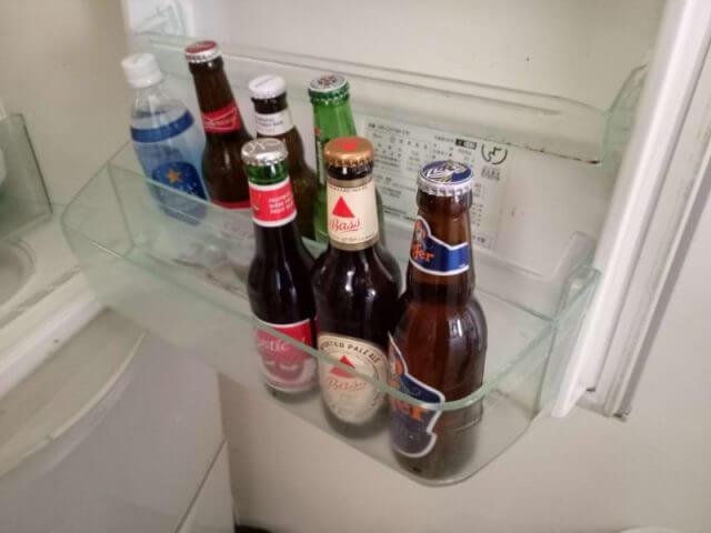 冷蔵庫の扉にビール保存はNG