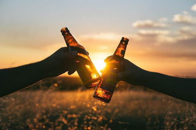 ピルスナービールで乾杯